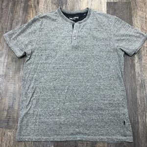 Lee Premium Gray Henley Heathered T-Shirt